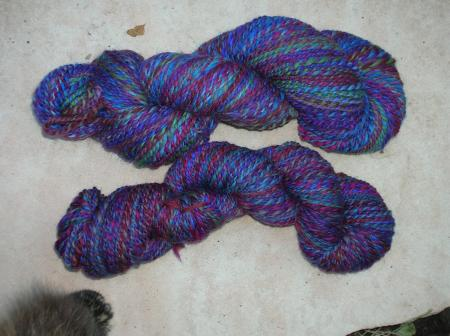 handspun from 2 handpainted rovings