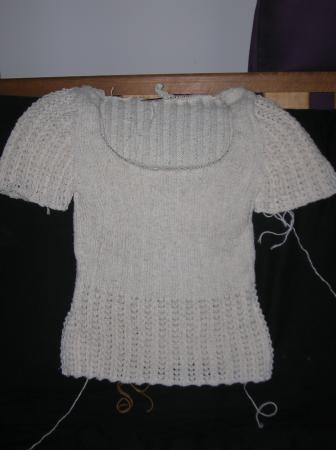 simple summer sweater almost done