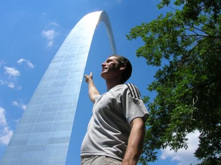 Rob at the St. Louis Arch