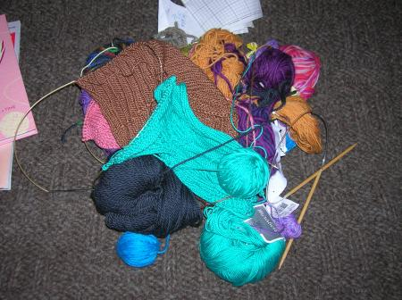 knitting bag contents