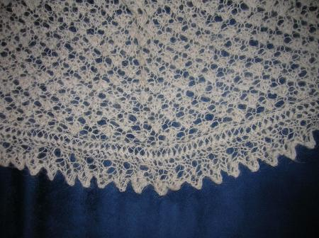 Pi shawl detail