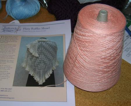 Flirty Ruffles shawl and Zephyr yarn