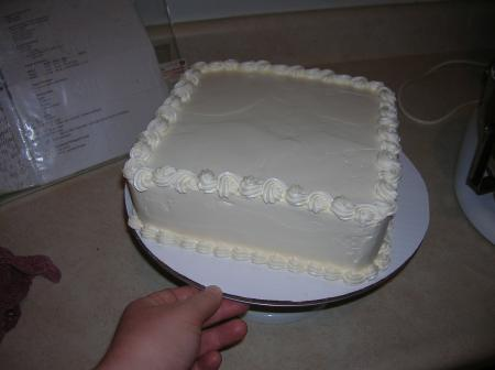 finished cake