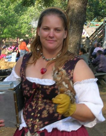 woman with owl