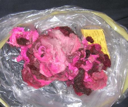 uncombed rose-colored wool
