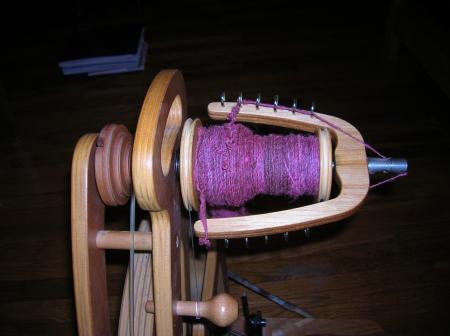 rose wool on bobbin