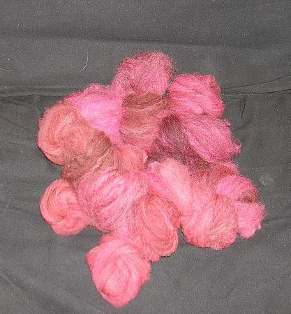 combed rose wool